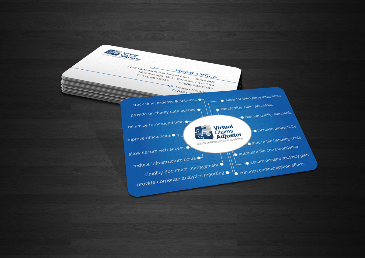 Business Card Design By Anastasia Kovsh For Management System Providor Needs Upscale