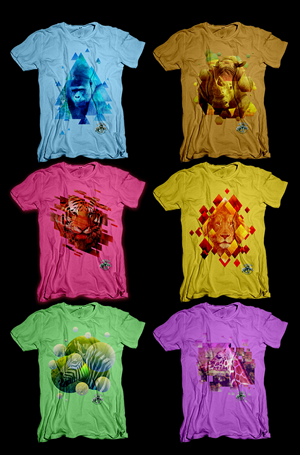 T-shirt Design by  dsgrapiko - ZOO  needs 6 T-Shirts design something very uni...