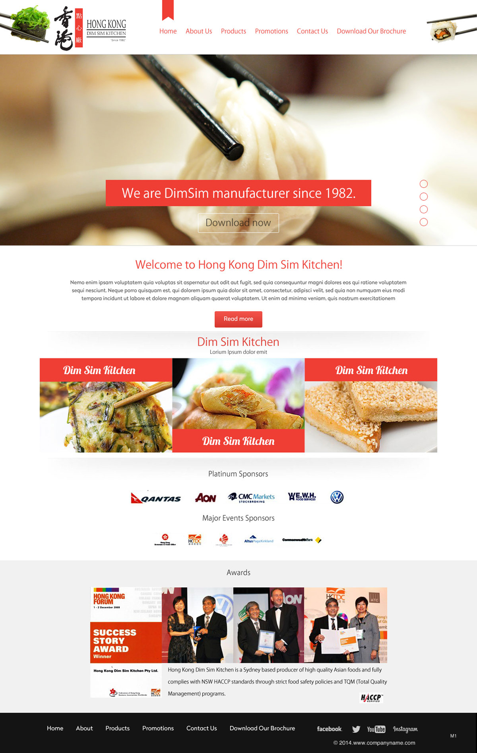 Kitchen Web Design for a Company by pb | Design #4939593