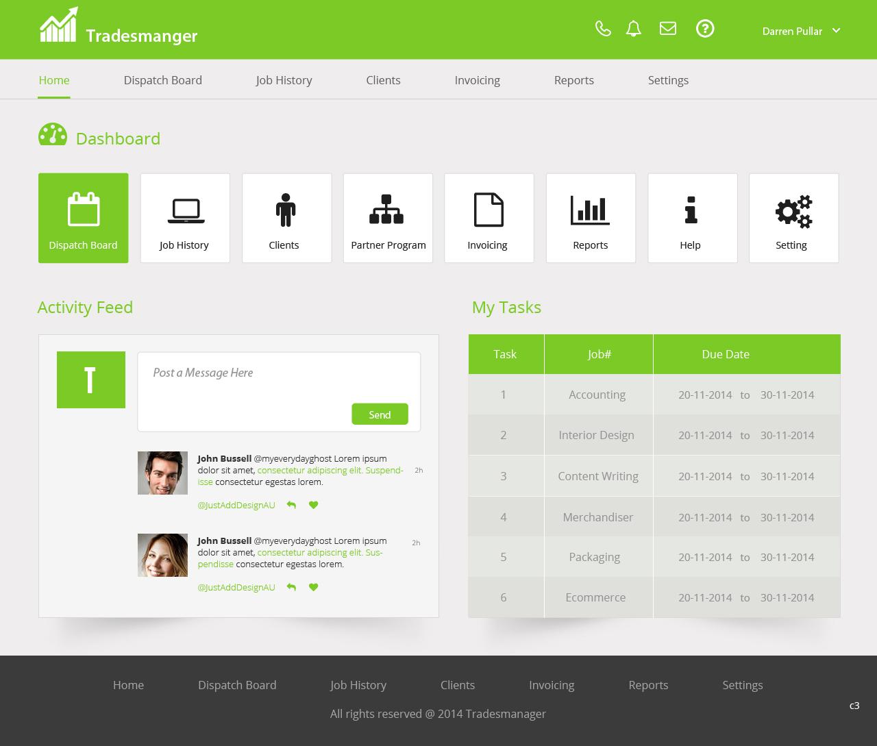 modern upmarket invoice web design for a company in australia design 4939630