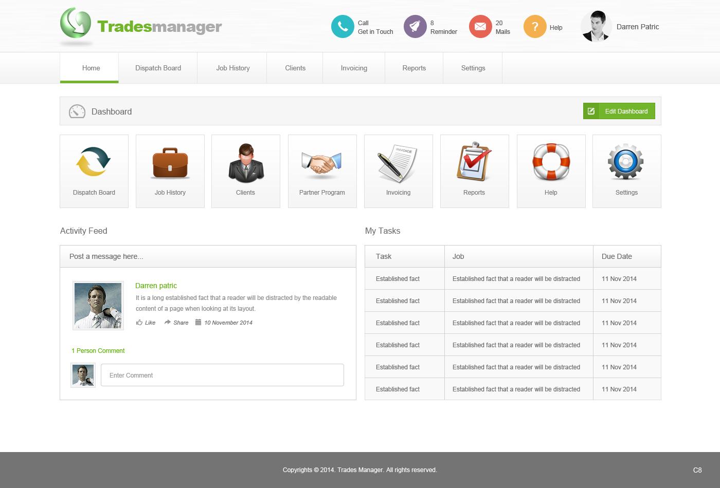 modern upmarket invoice web design for a company in australia design 4939635