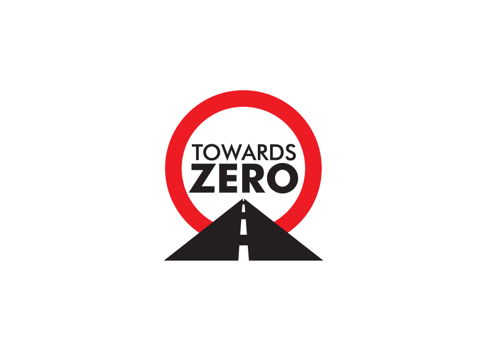 safety logo design for towards zero by nigel b design
