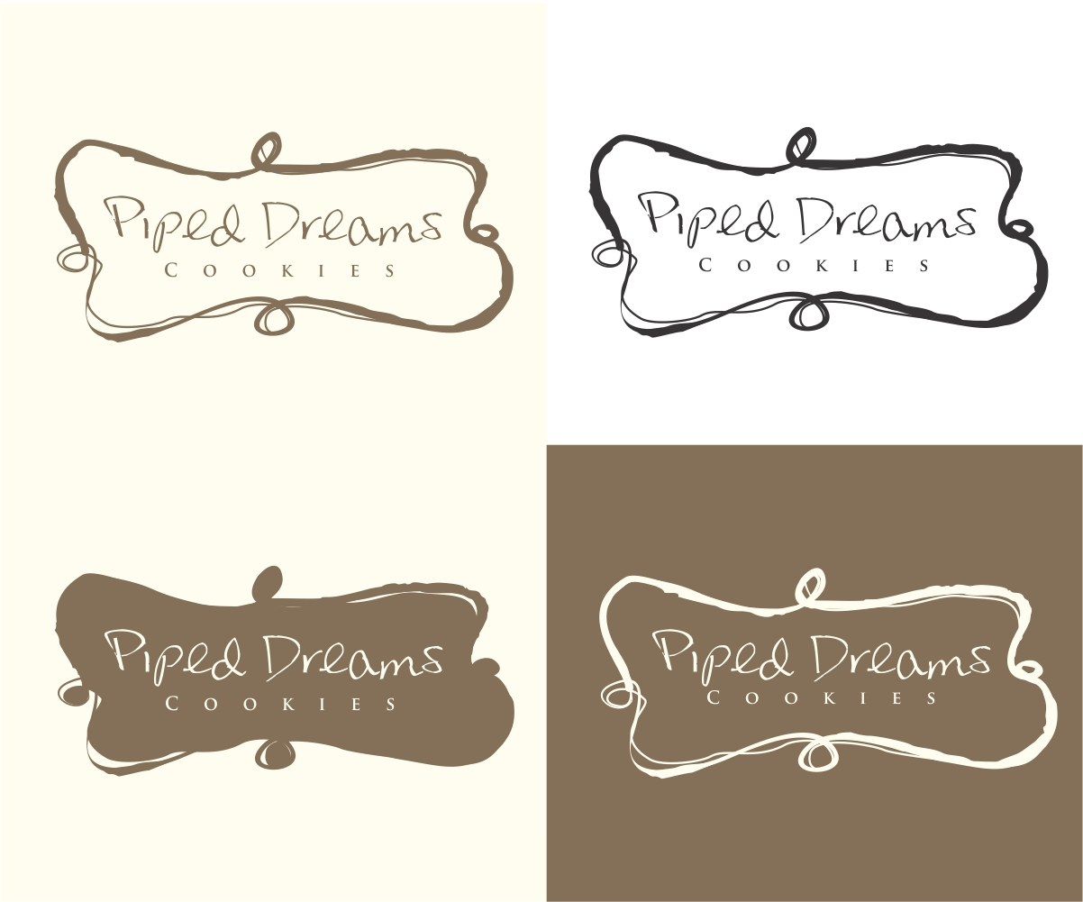 bakery logo design for piped dreams cookies by mandarina
