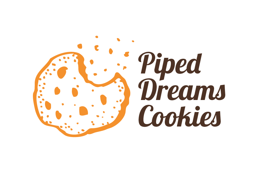 bakery logo design for piped dreams cookies by diseno