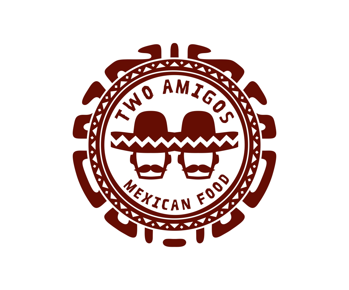 Bold playful restaurant logo design for two amigos by for Mexican logos pictures