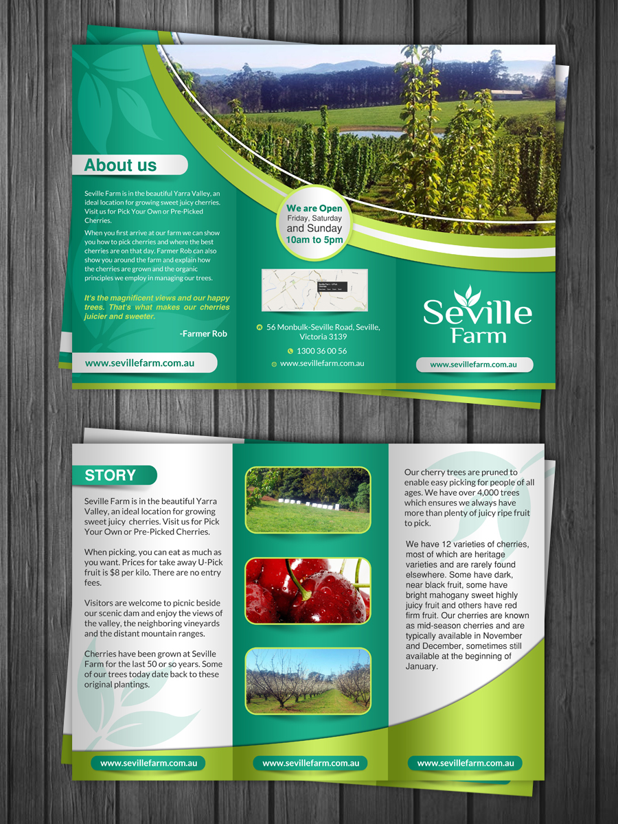 Farm Flyer Design For Mcintyre Property Holdings Pty Ltd