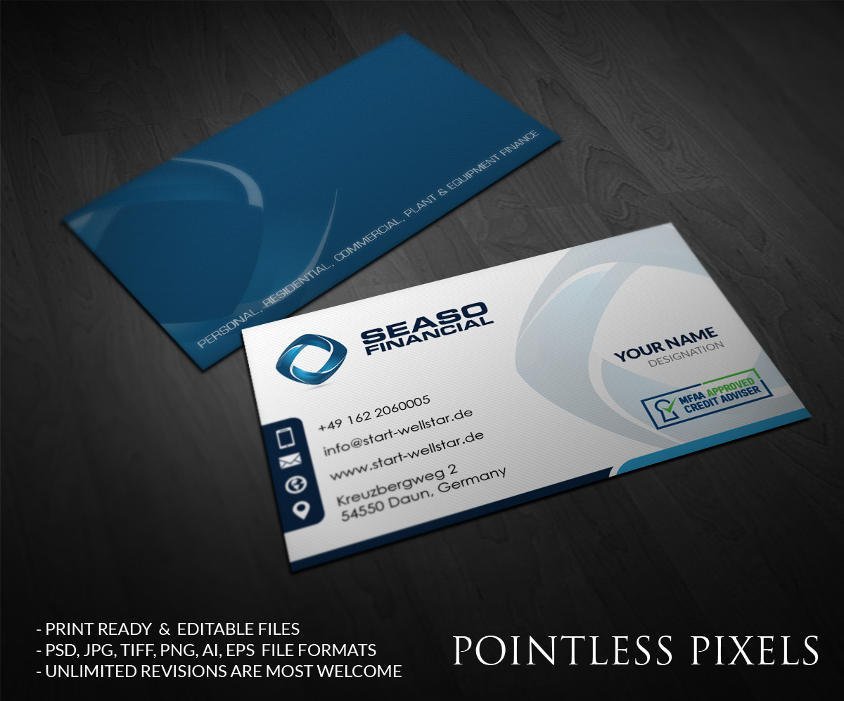 103 modern business card designs residential business card design business card design by pointless pixels india for this project design 4974153 reheart Gallery