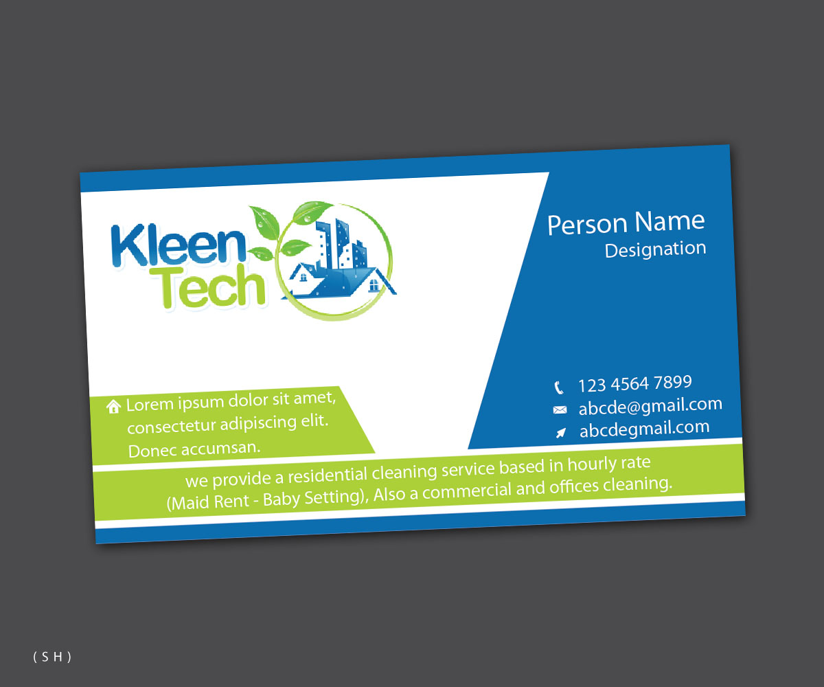 cleaning business card design selo l ink co