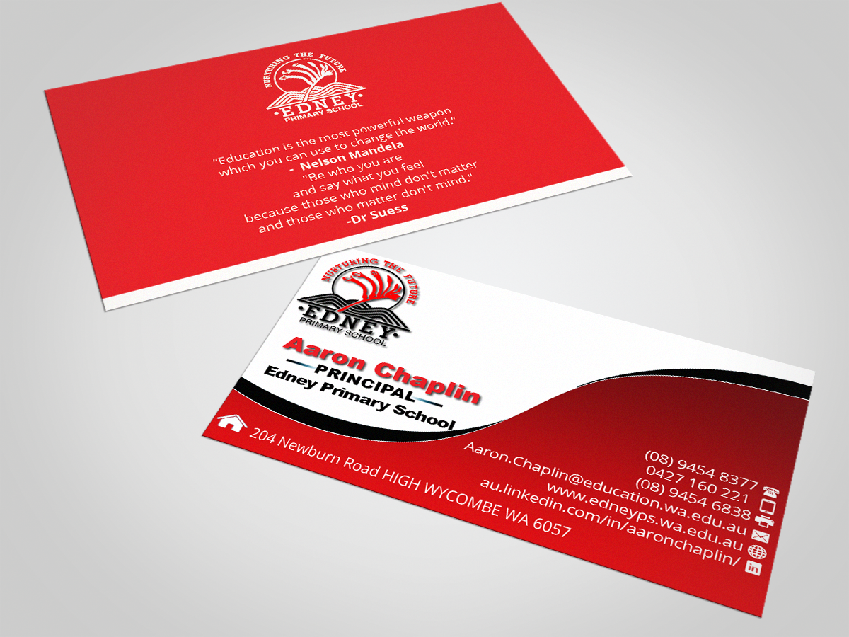 Bold, Modern, School Business Card Design for a Company by ...