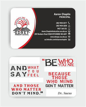 37 Bold Business Card Designs School Business Card Design Project