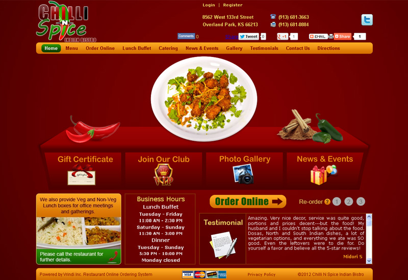 Serious, Modern, Restaurant Web Design for Thumb Frenzy Labz by ...