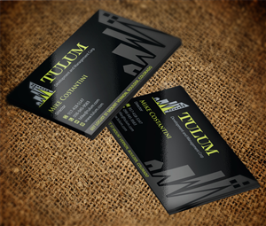 Business Card Design by MT - Tulum Development and Management Corp. Business...