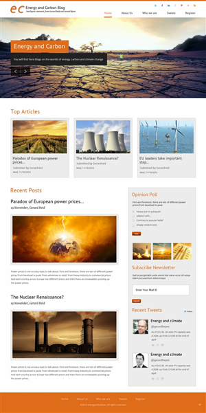 Web Design by pb - energy and carbon blog