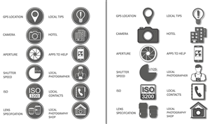 Icon Design by kervzpro - Icon set for Photography eBook and Website
