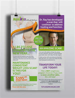 Flyer Design by Elegant Designs - Direct Mailer for current client list for Weigh...