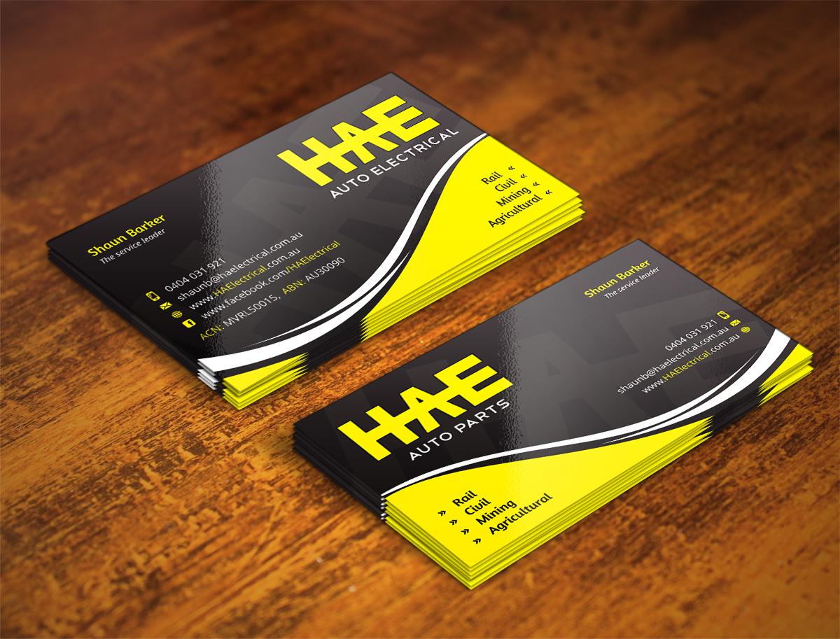 Serious Modern Business Card Design design for Hunter