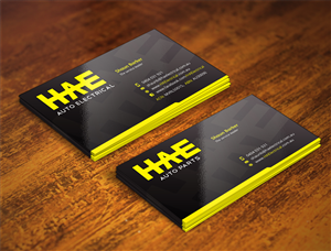 48 serious modern automotive business card designs for a business card design design 4963768 submitted to hae auto electrical auto parts reheart Choice Image