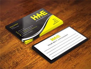 48 serious modern automotive business card designs for a business card design design 5307356 submitted to hae auto electrical auto parts reheart Choice Image