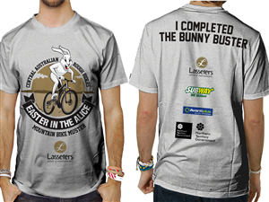 T-shirt Design by Voltage Gated - easter in the alice mountain bike muster