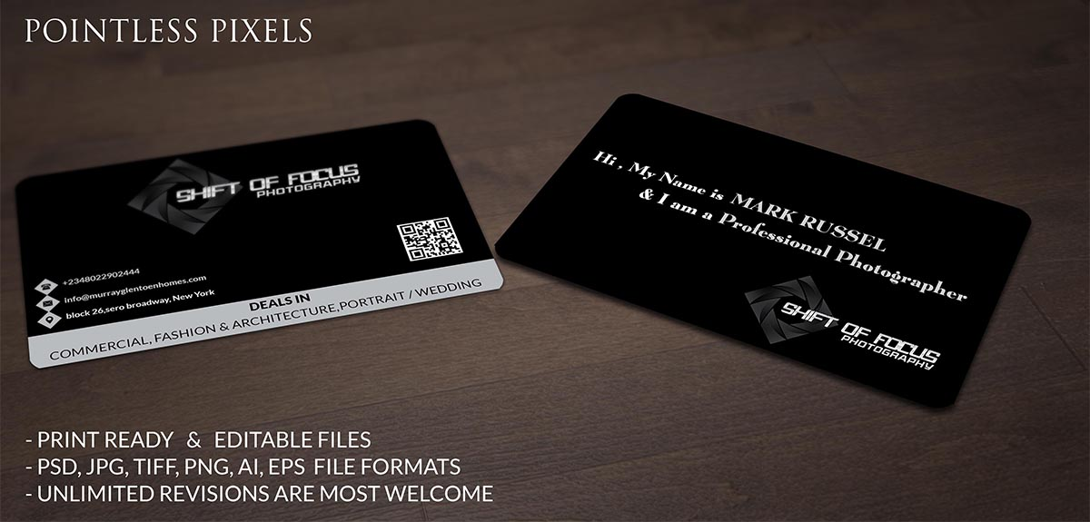 Upmarket elegant marketing business card design for shift of focus business card design by pointless pixels india for shift of focus design 4964818 colourmoves
