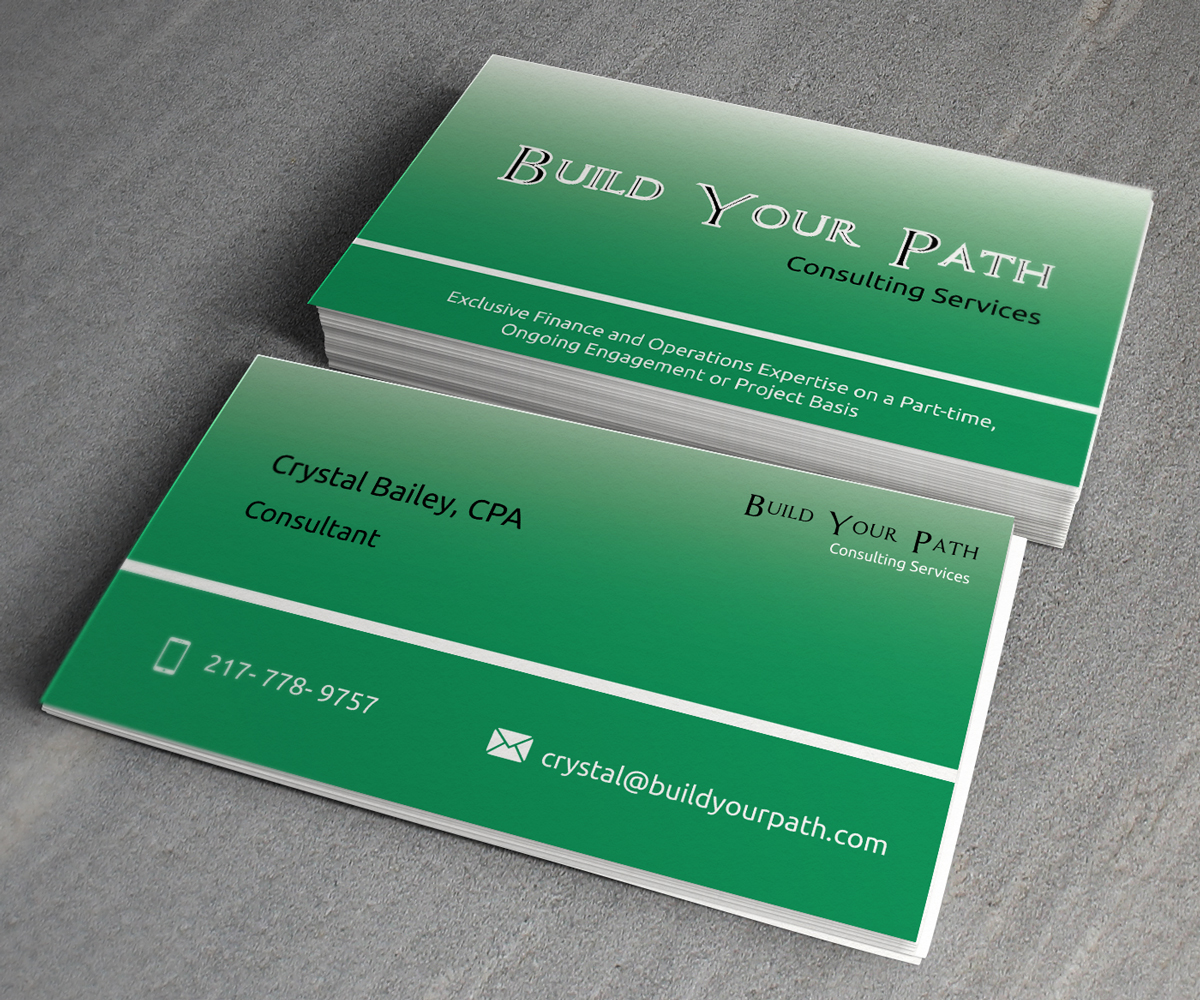 Marketing Business Card Design For Build Your Path Consulting By