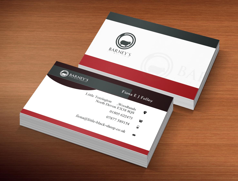 Bold playful business business card design for barneys little bold playful business business card design for barneys little black sheep co in united kingdom design 5071386 reheart Images