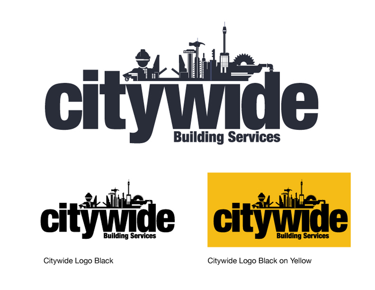 serious modern construction logo design for citywide by spread