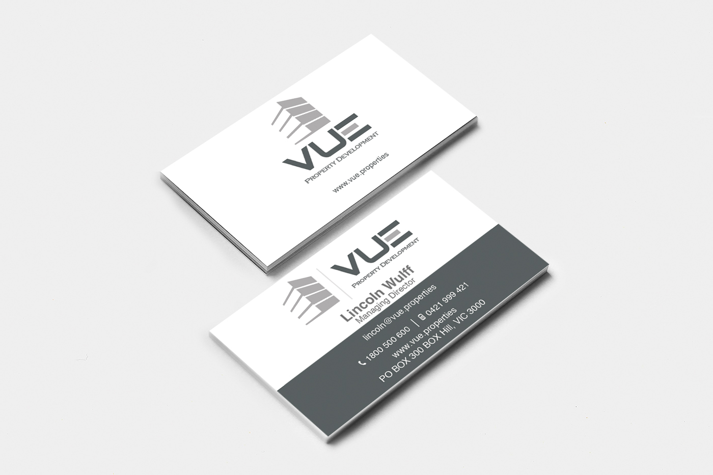 Modern, Professional, Building Business Card Design for Vue