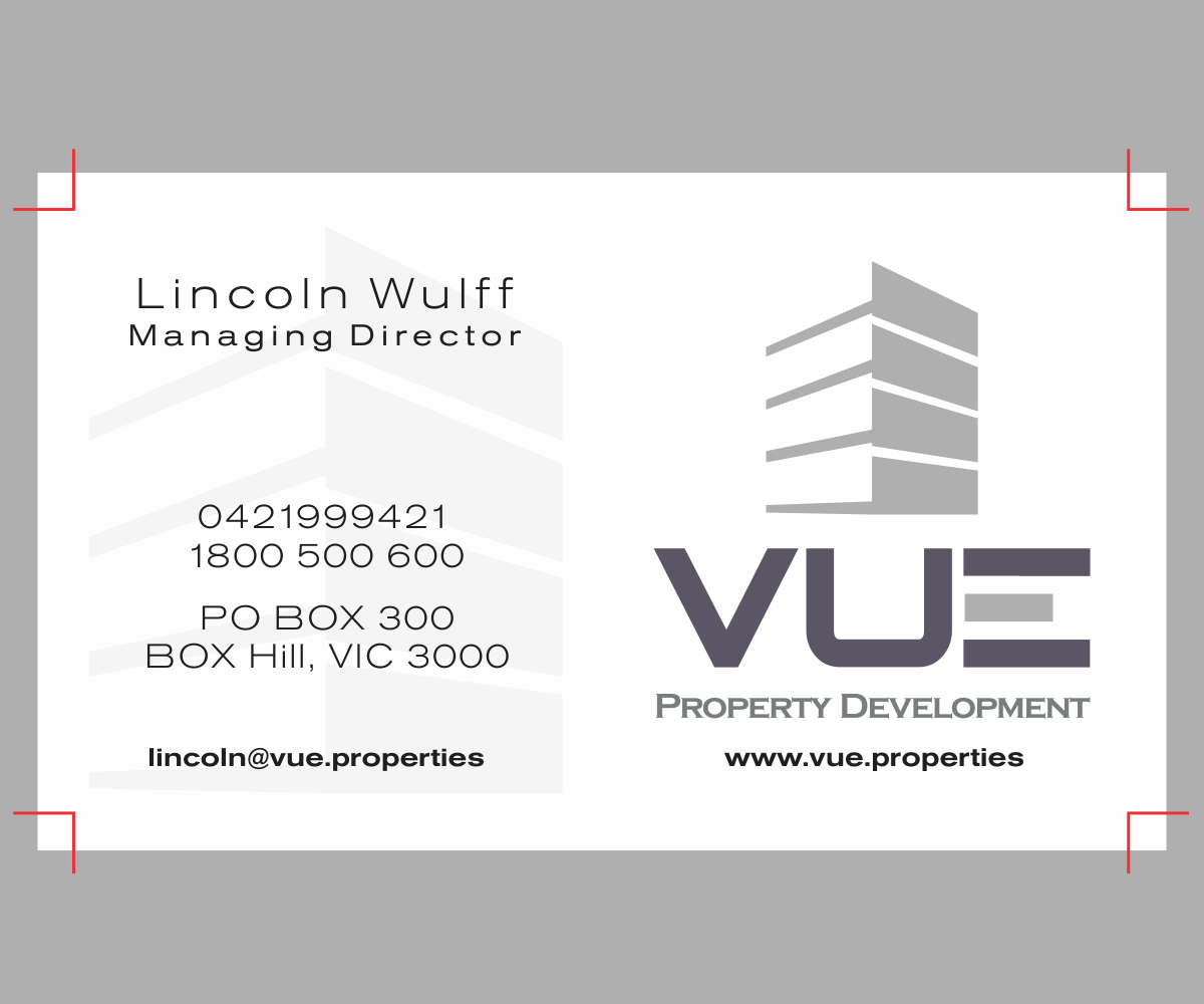 Modern professional building business card design for for Professional building designer