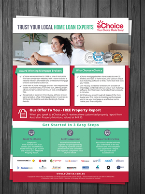 Flyer Design by debdesign - eChoice Mortgage Broker Marketing Flyers