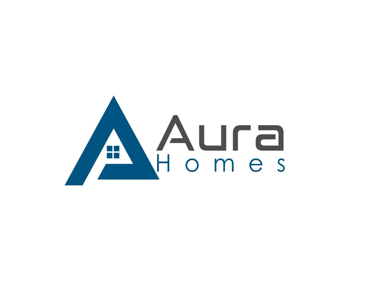 135 colorful modern home builder logo designs for aura homes a home builder business in australia. Black Bedroom Furniture Sets. Home Design Ideas