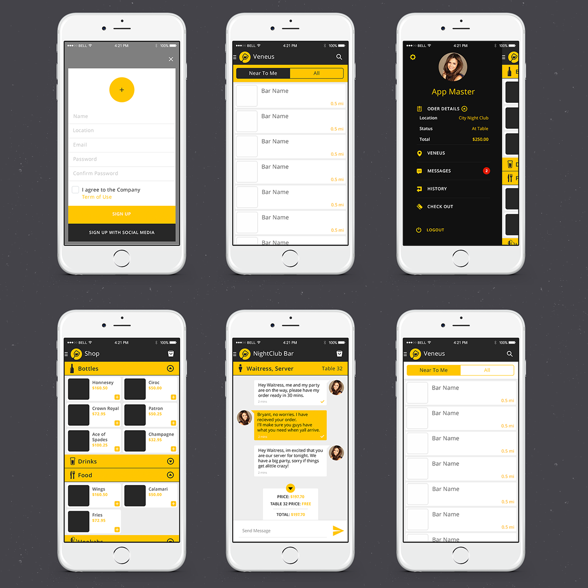 Elegant playful app design for instant communication inc by sergeybrin design 5123728 Architecture designing app