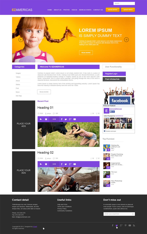 Masculine playful web design by ilibart design 5032572 for Masculine web design