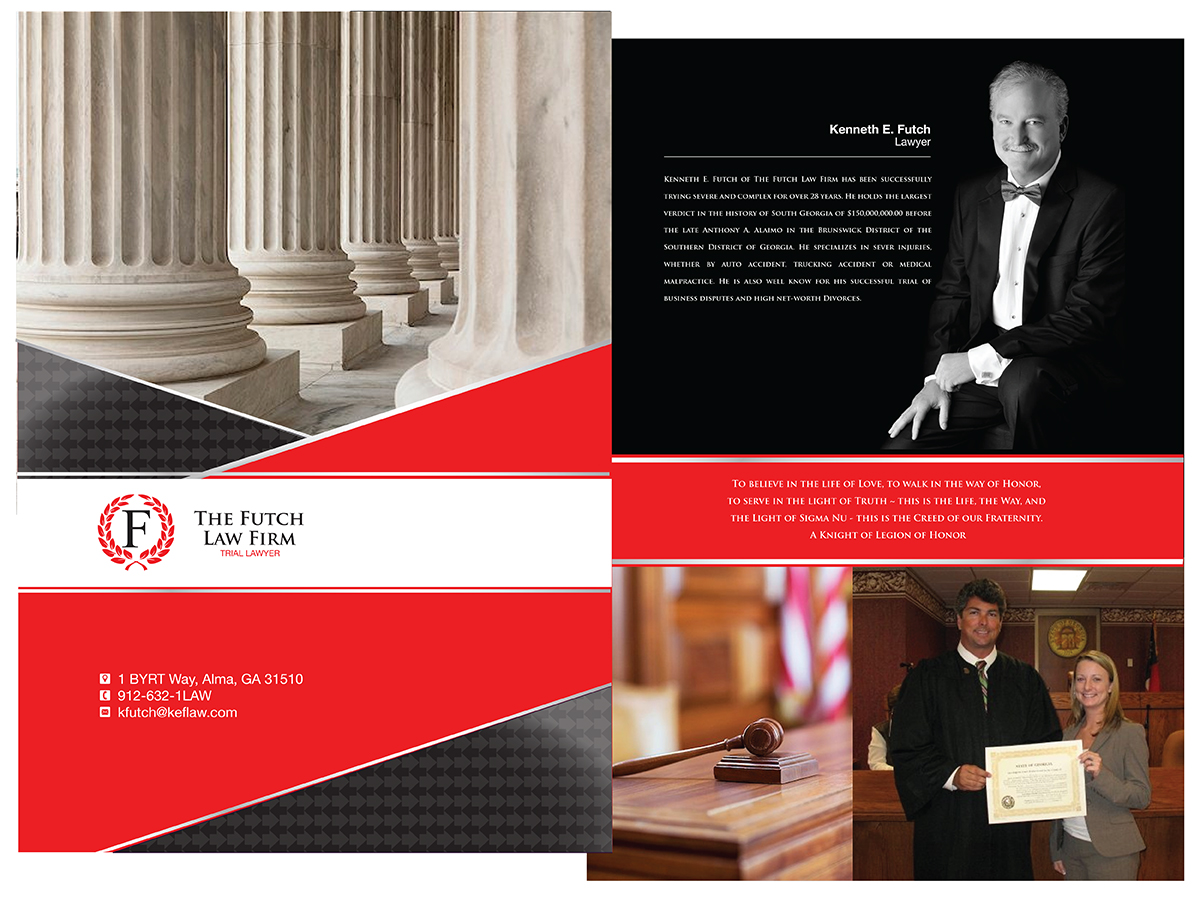 Serious, Bold, Medical Brochure Design for The Futch Law Firm by ...