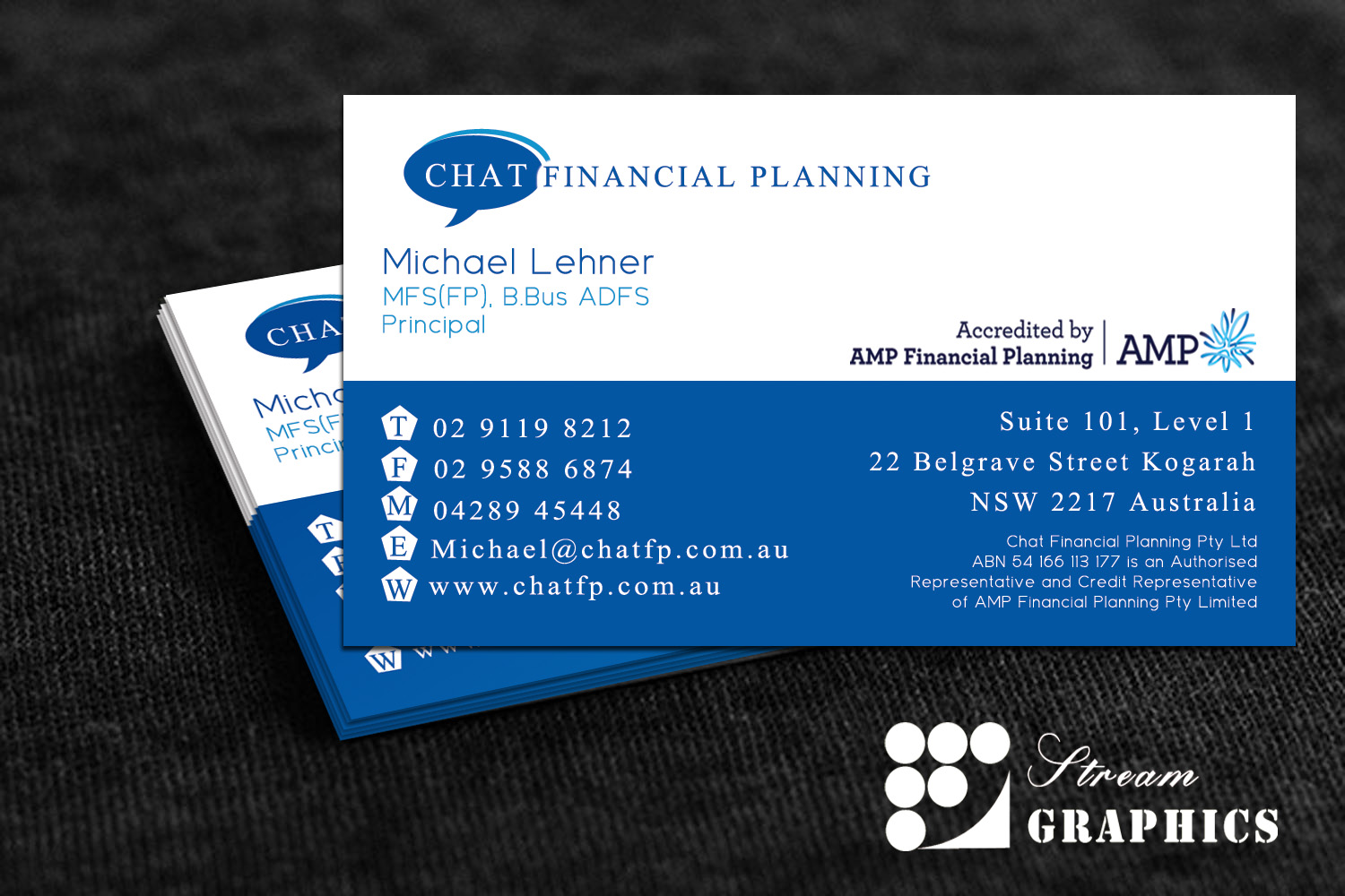 Design De Carte Visite Business Pour Chat Financial Planning En Aux Australia