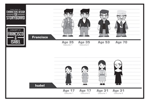Graphic Design by yganess - Characters design for storyboard