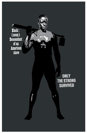 T-shirt Design by Simon Hon - Black Man #1