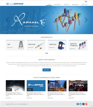 Web Design by pb - Face lift needed for client website  www.accels ...