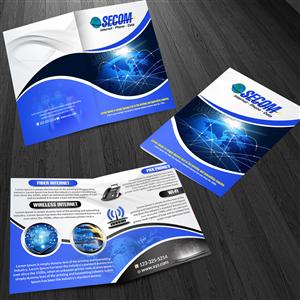 Brochure Design by ESolz Technologies - Fast Reliable Internet Service needs Design Tem ...