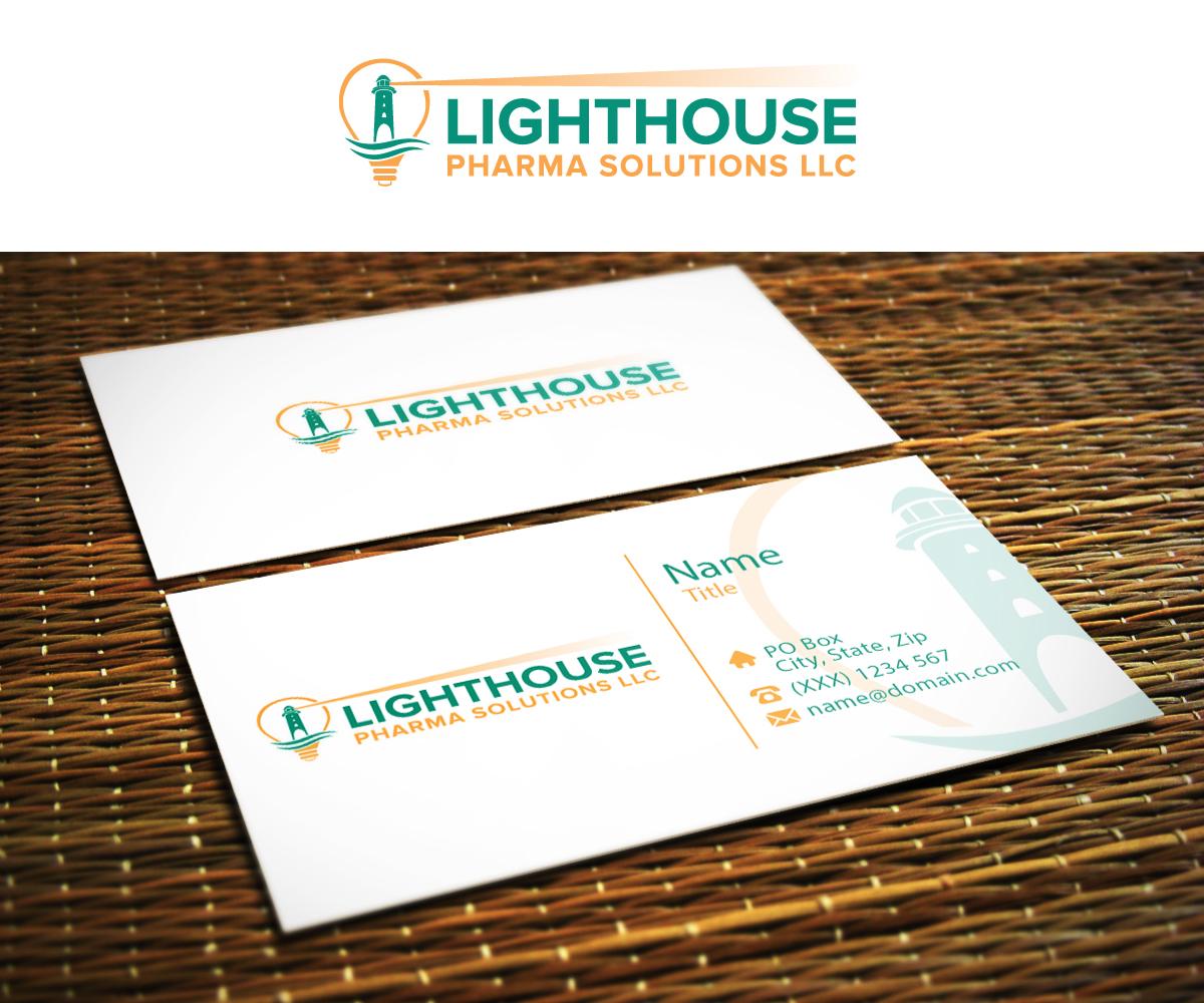 Elegant, Serious Business Card Design for LightHouse Pharma ...
