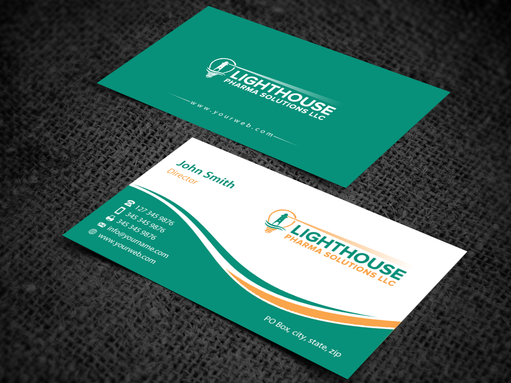 Elegant serious business business card design for lighthouse business card design by pixelfountain for lighthouse pharma solutions design 5284824 colourmoves