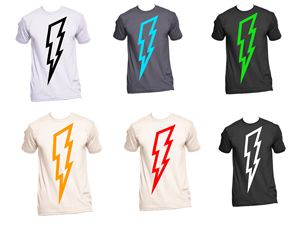 3e36e8014b3aa8 Lightning Bolts on t-shirts! | T-shirt Design by coke one