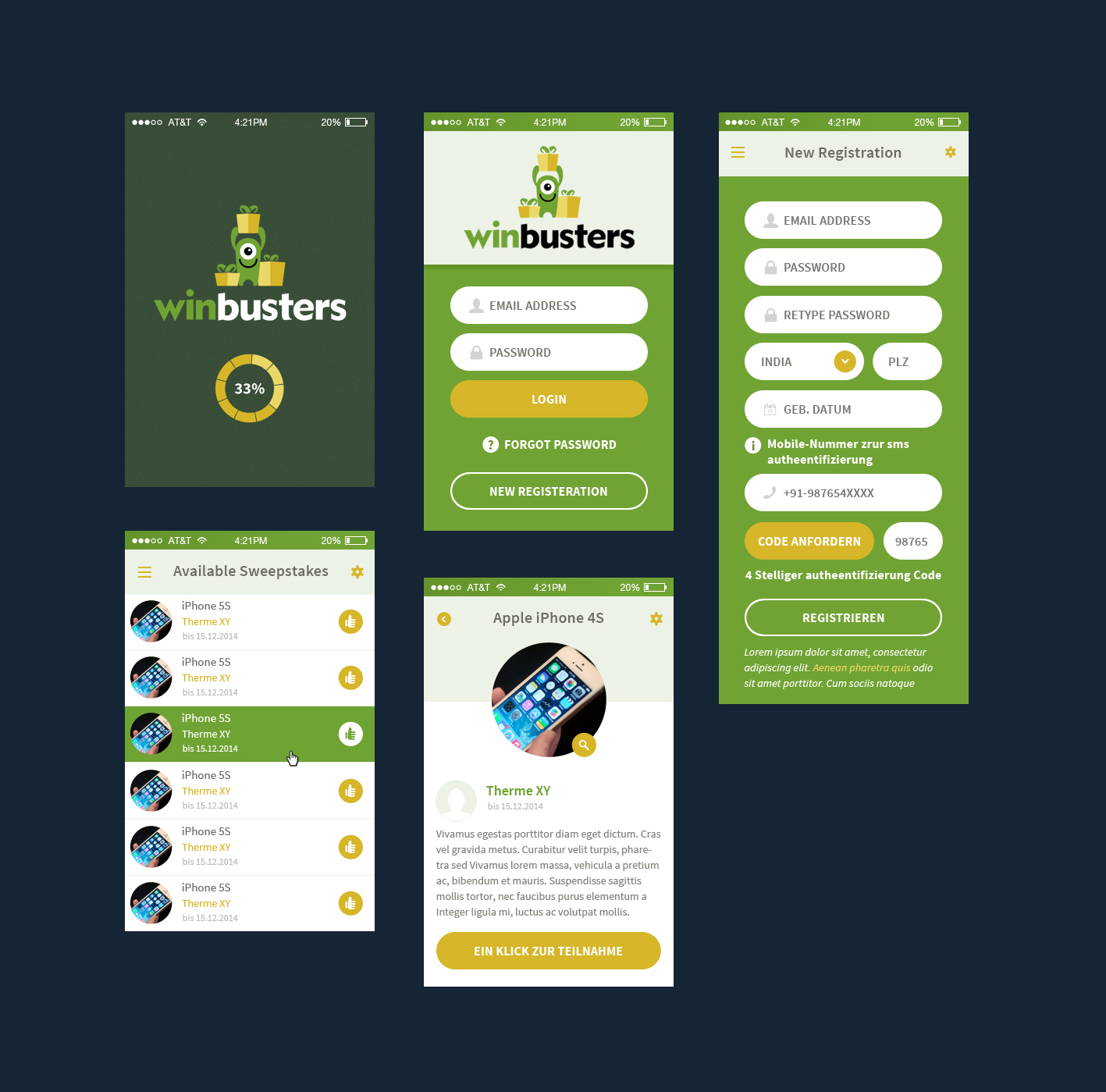 High Quality Web Design By Hashim Creetto For Design For Mobile And Web App For  Sweepstakes.
