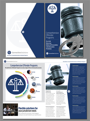 Brochure Design by j.allosso - US company marketing to law enforcement needs b ...