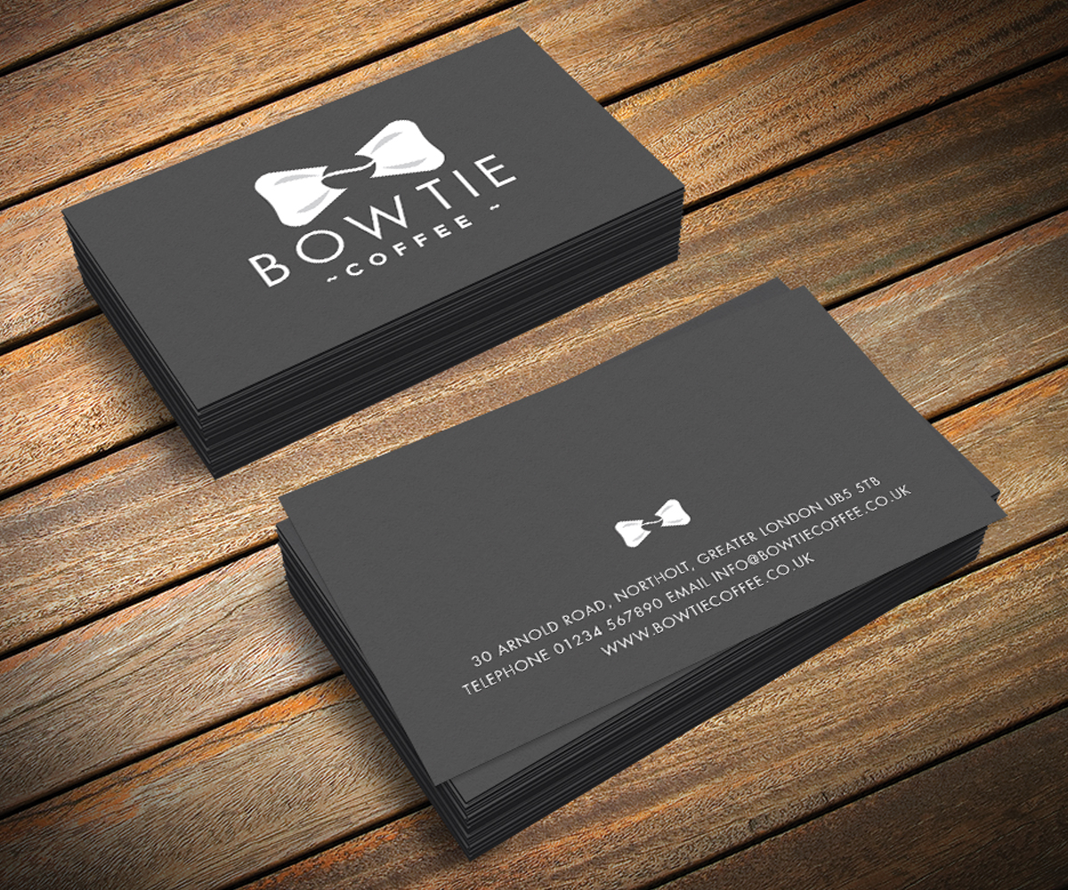 Bow tie business cards arts arts serious elegant industry logo design for bow tie coffee by lemon bowtie business card colourmoves