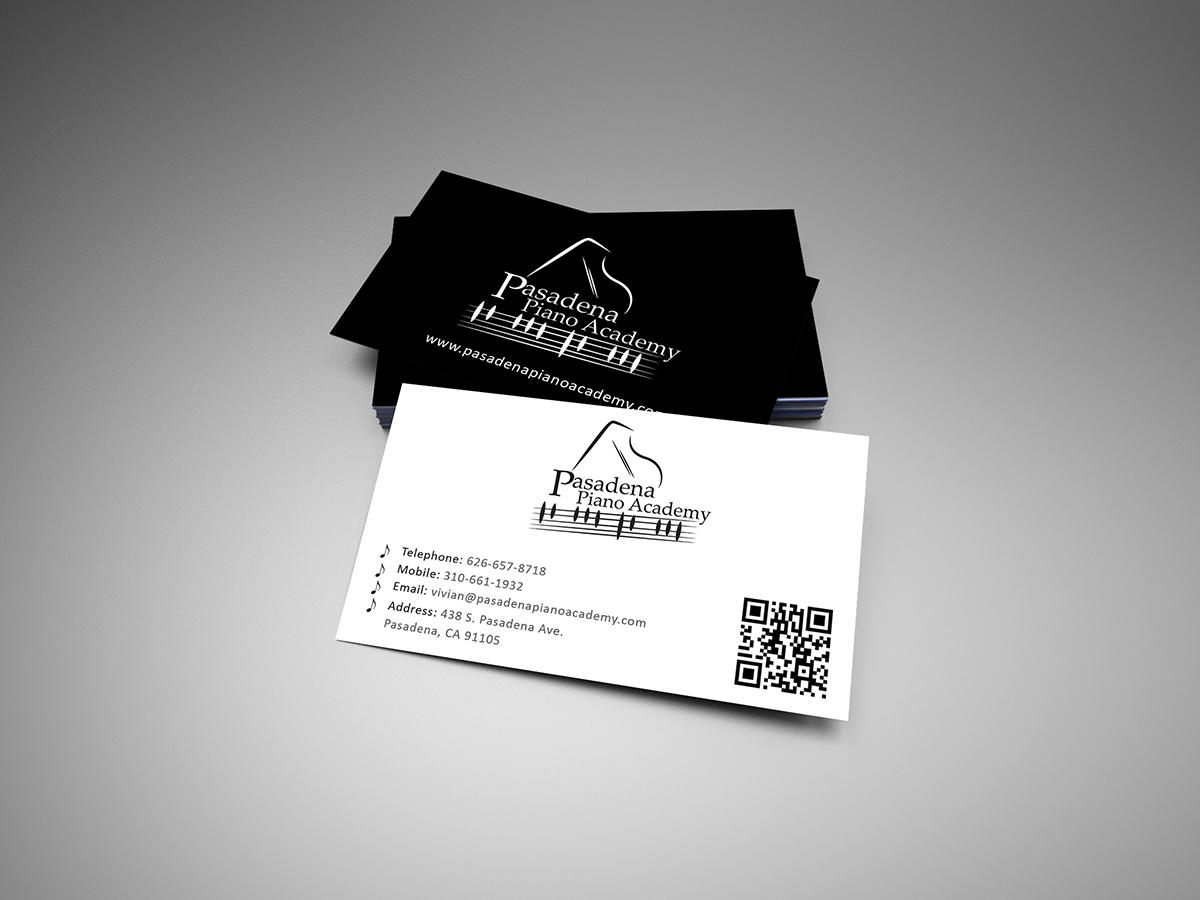 Design De Carte Visite Par Armin Shohrati Pour Pasadena Piano Academy