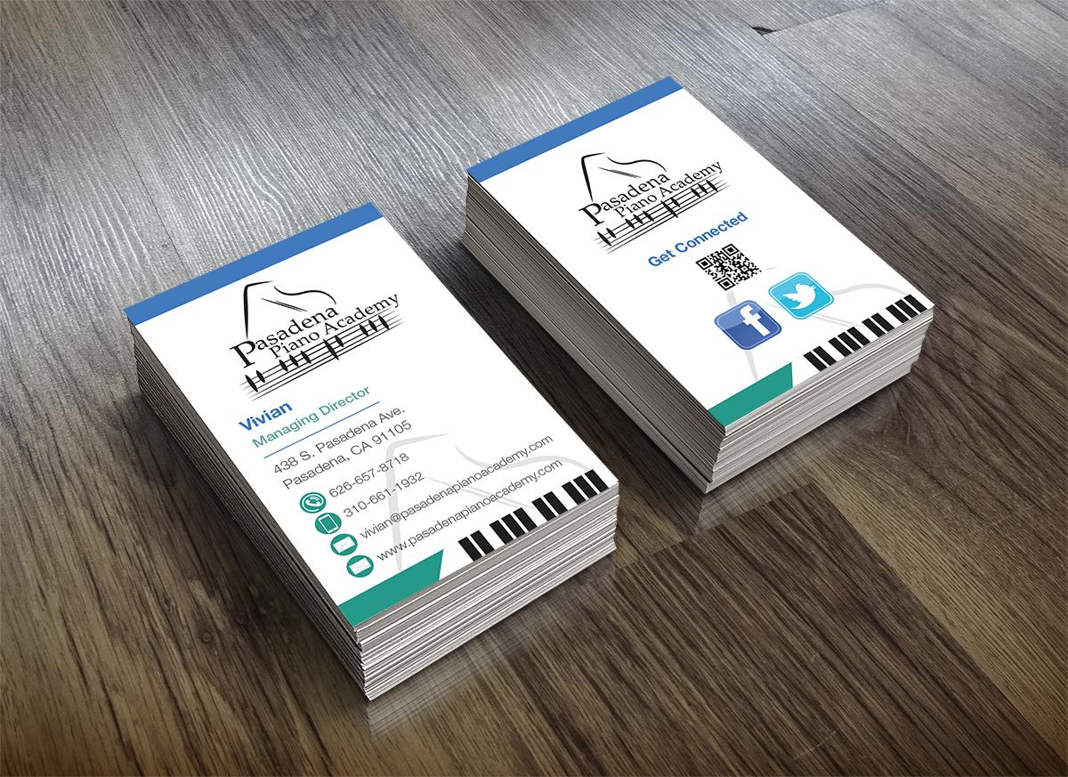 Design De Carte Visite Par Pjw Pour Pasadena Piano Academy