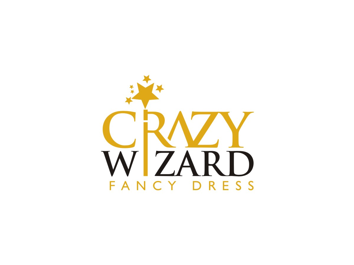 Playful colorful shop logo design for crazy wizard fancy for Logo creation wizard