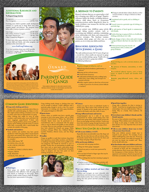 Brochure Design by ESolz Technologies - Oxnard Parents Guide to Gangs