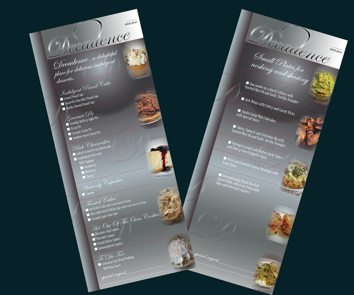 Modern professional menu design for robin franklin by id